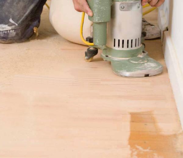 gulvslibning og afhoevling af gulve